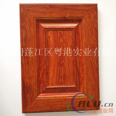 欧式红色橱柜门图片