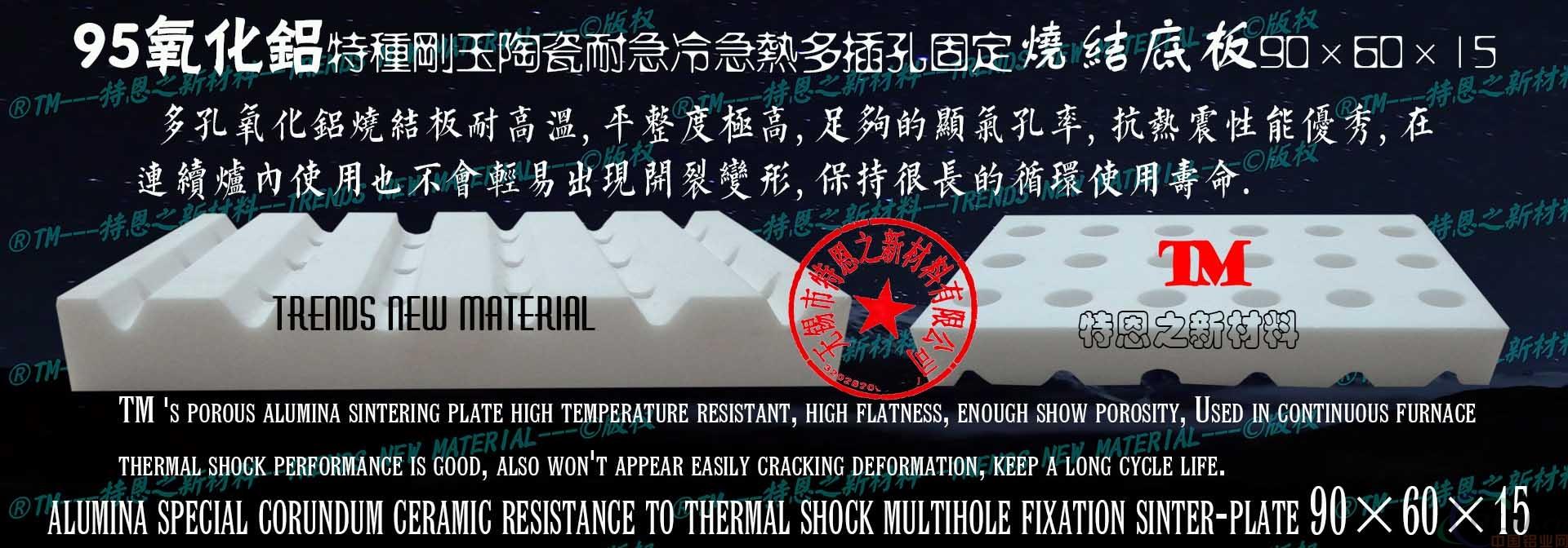 95氧化铝陶瓷多孔固定烧结底板90×60×15
