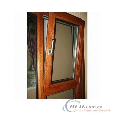 Wood Grain Transfer Printing Aluminium Tilt&Turn Windows