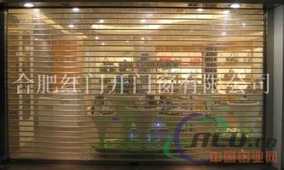 透明水晶门定做、电动水晶卷帘门安装及价格