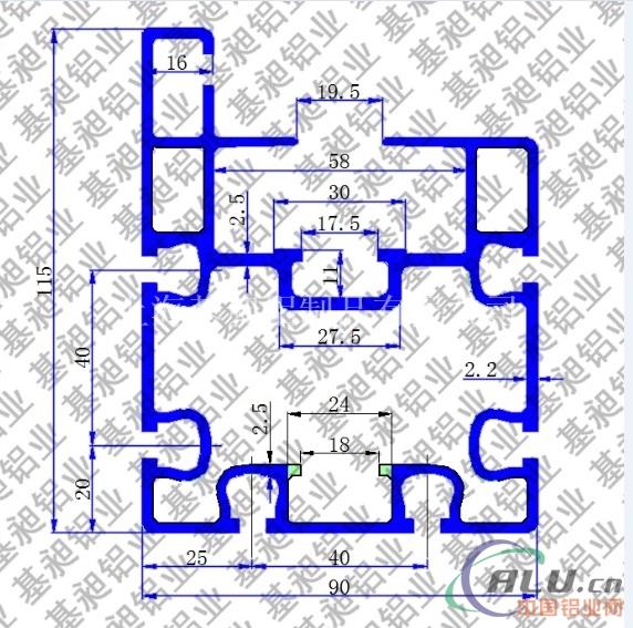 平面循环组装线摩擦线铝型材 铝合金导轨
