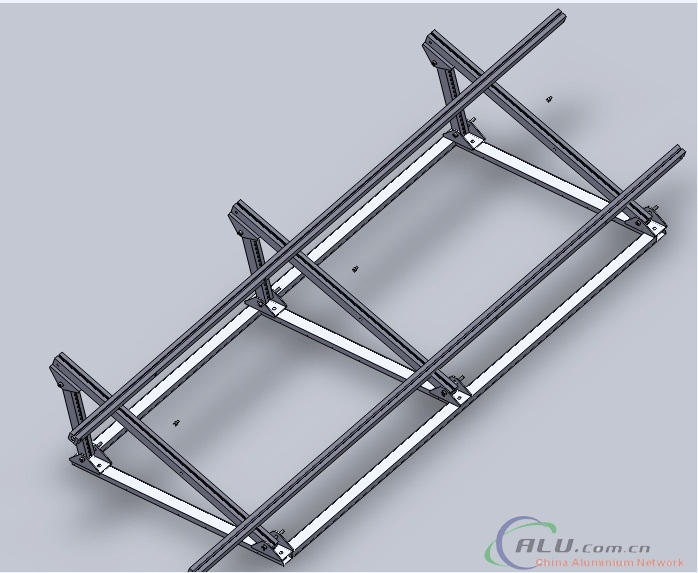 Aluminum frames for solar system