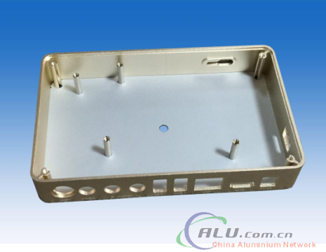 Aluminum extrusion frame box for television set-top box