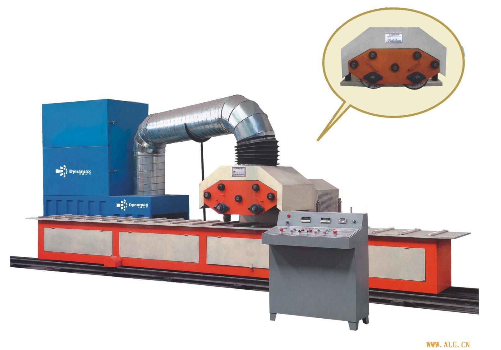 Polishing machine of aluminium profile