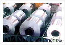 Anti-static, anti-scraped, fluorocarbon coated aluminum coil