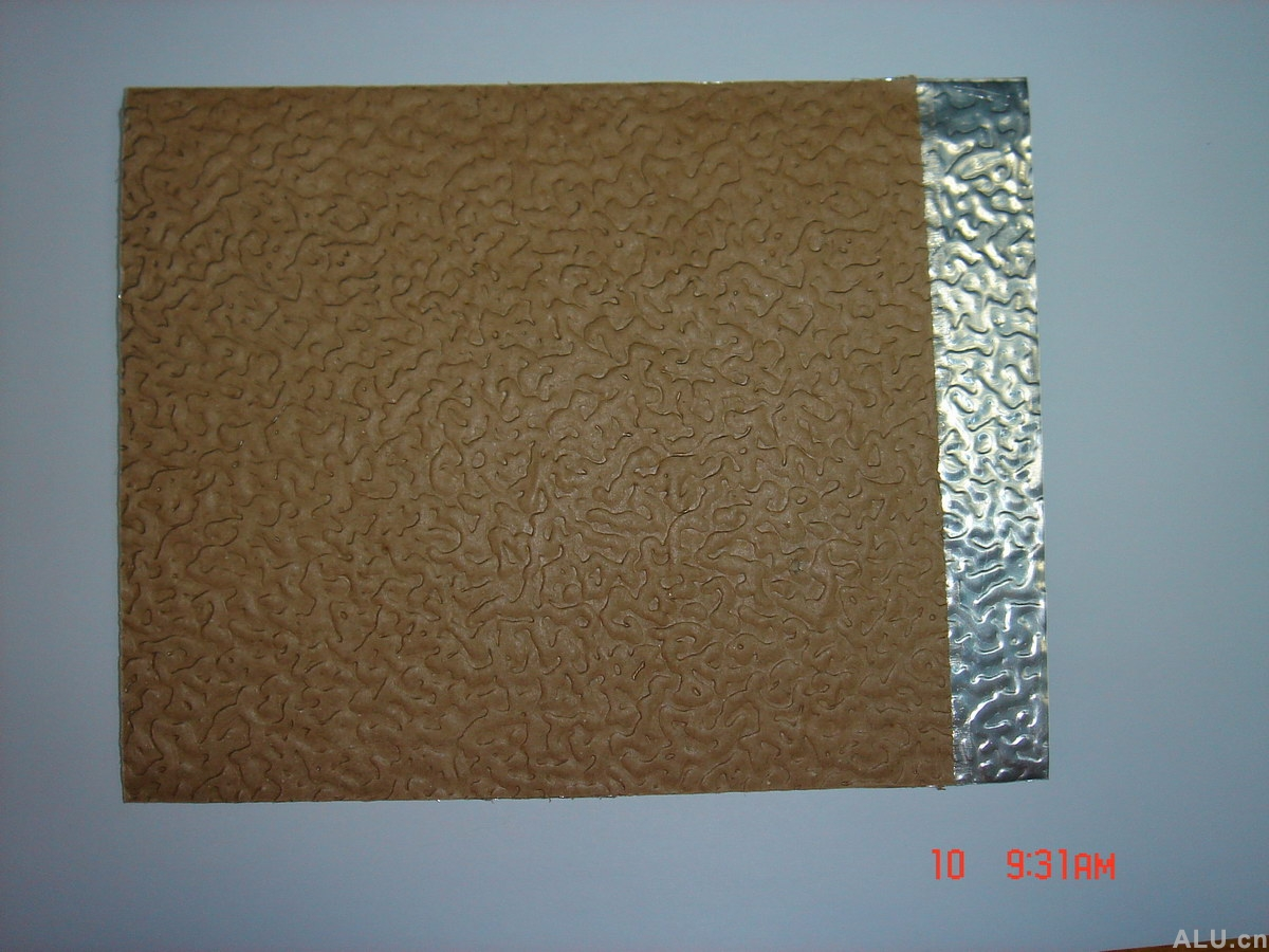 brown paper coated aluminium coil