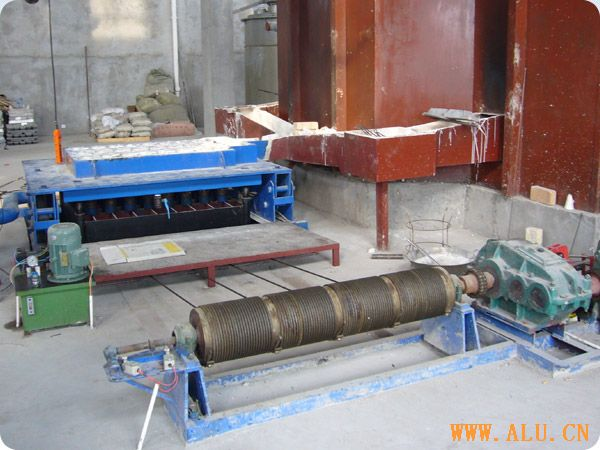 Aluminium rod casting machine
