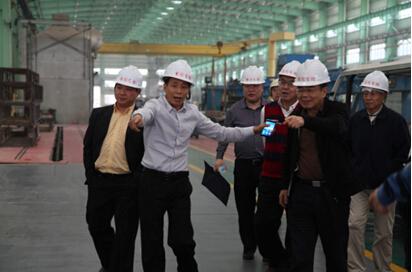 中国有色金属工业协会会长陈全训一行参观坚美铝业