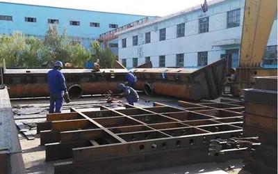 酒钢西部重工机械制造分厂天成彩铝钢结构生产进展顺利