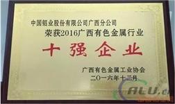 中铝广西分公司荣获广西有色金属行业多项殊荣