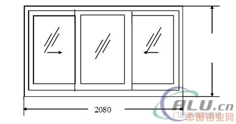 13种铝合金门窗下料尺寸计算公式