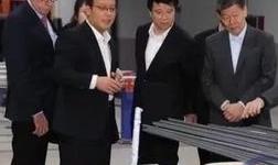 滨州市领导和魏桥创业集团领导张士平、张波视察华建铝型材项目建设