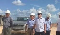马英总助到博赛集团圭亚那铝矿公司视察指导工作