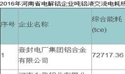 关于河南省电解铝企业吨铝液电解交流电耗核查结果的公示