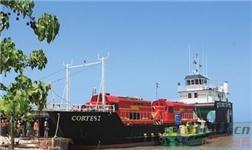 阿尔帕特氧化铝厂2台铁路机车运抵牙买加凯撒港