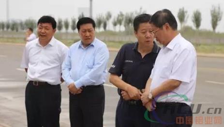 自治区副主席王波调研蒙泰达拉特铝板带项目