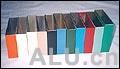 aluminium profile polychrome powder coating
