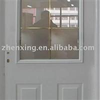 精致铝板门,雅致高档。表面喷涂,颜色可选。