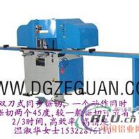 一个动作两个45度专用铝材切割机 高效率角度切割机