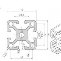 工业铝型材4040D,铝型材框架,流水线型材,工作台,机械设备加工