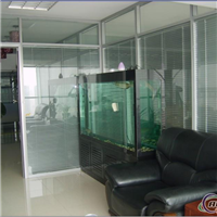 厂家直销玻璃隔断百叶隔墙 高隔间铝型材