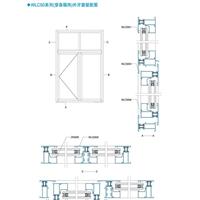 铝材供应WLC50系列(穿条隔热)外开窗