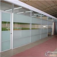 供应高隔间单玻分隔式玻璃隔断