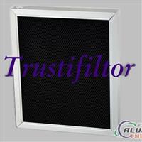 活性炭滤网 铝蜂窝滤网 铝蜂窝活性炭滤网