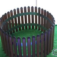 木纹铝合金仿木铝合金草坪围栏