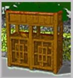 铝合金仿木氟碳木纹环卫垃圾桶10