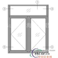 50E平开窗铝型材