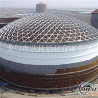 铝穹顶内浮顶储油罐球面铝网架