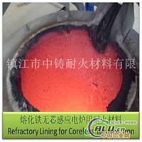 炼铁无芯感应电炉炉衬质料