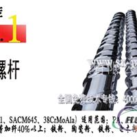 铝塑挤压机螺杆,双合金螺杆金鑫技术卓越