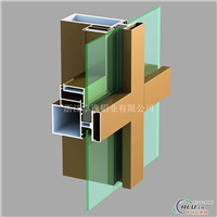 平开门窗型材 建筑玻璃幕墙