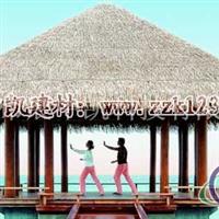 2014沙滩茅草伞材料铝茅草供应