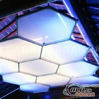 八棱柱吊顶 会展新款展示架 灯箱铝型材 展览展示灯具 灯箱铝料制作工帮