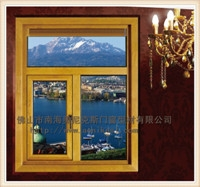 AN658铝包木门窗_铝木共生门窗