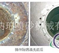 铸件除锈翻新喷砂加工效果图