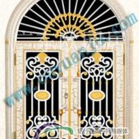 门业供应铸铝花大门仿古门