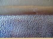 供应覆牛皮纸花纹铝板 橘皮纹铝卷