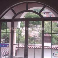 高档门窗双层钢化玻璃铝合金窗