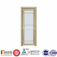铝合金门窗凹弧平开门铝门窗型材铝型材(电泳香槟)