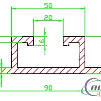 高速标牌用滑槽、70#铝滑槽、济南产滑槽