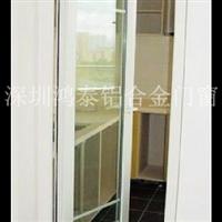 白色铝合金平开门_铝门窗