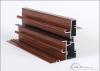 Wood grain transfer printing aluminum profile for doors and windows decoration.