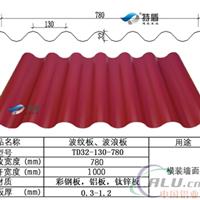 铝镁锰波纹板绯红墙面板