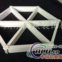 廠家直銷三角鋁格柵 大三角型木紋鋁格柵