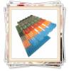 alloy 1100 color coated corrugated aluminium roofing sheet