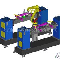 机器人变位机焊接铝模板